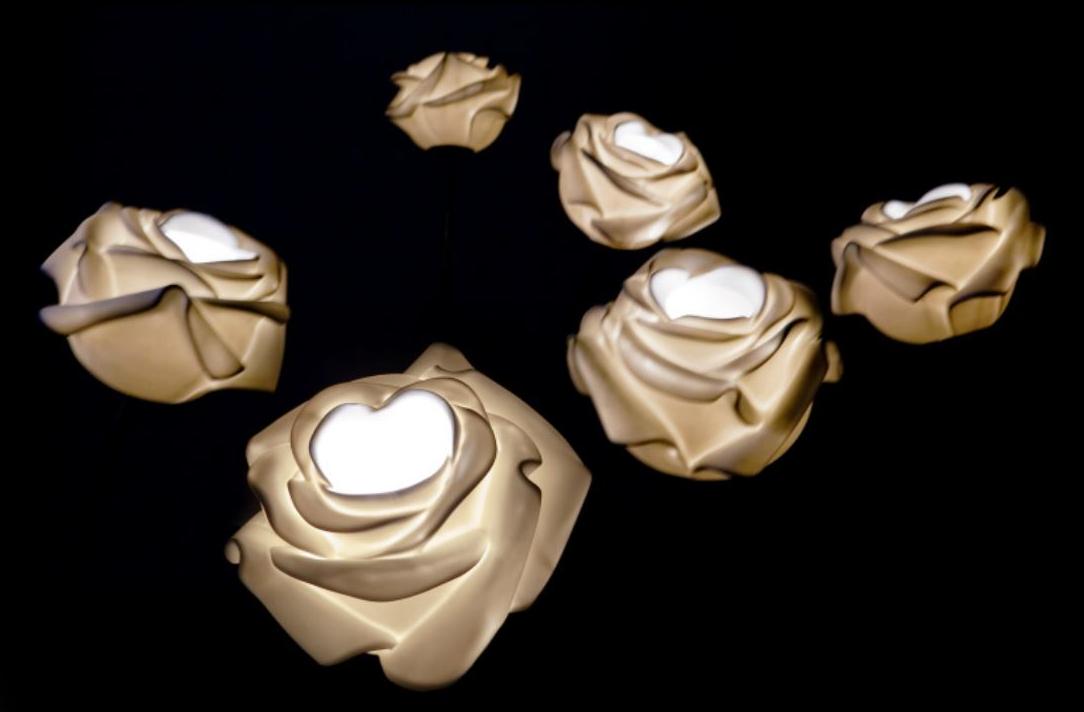 HANDGEARBEITETE TISCHLEUCHTE AUS PORZELLAN ROZA KOLLEKTION DESIGN LIGHTING BY LASVIT   DESIGN DAN PIRŠC