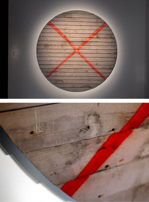 18a-IAN-STRANGE-SUBURBAN-Elliot-terrace-1-red-x-on-house-cut_Deconstructon-series-NGV-ehxibition-suburban