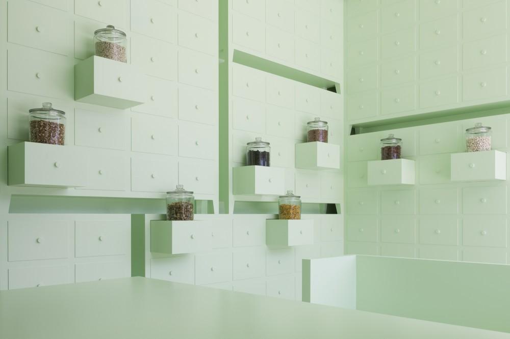 #Sumiyoshido #Lounge - Akupunktur in grün