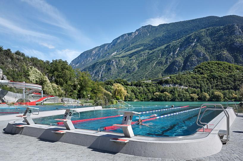 Ein neues #Schwimmbad in #Géronde, #Schweiz