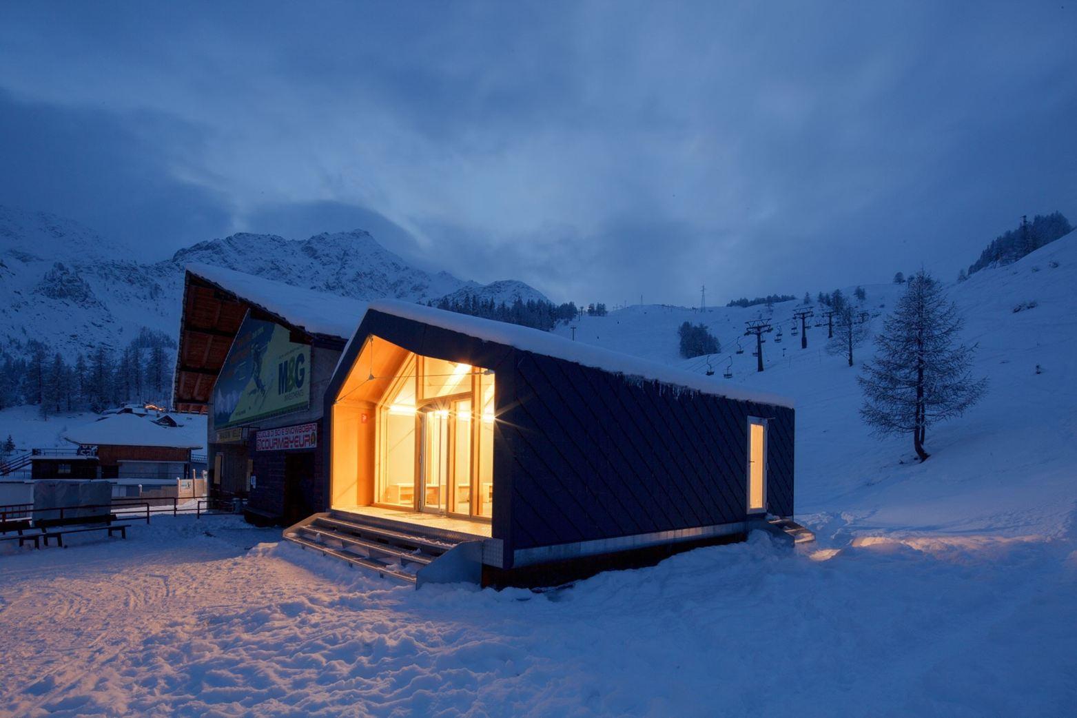 #Skischule von #Courmayeur
