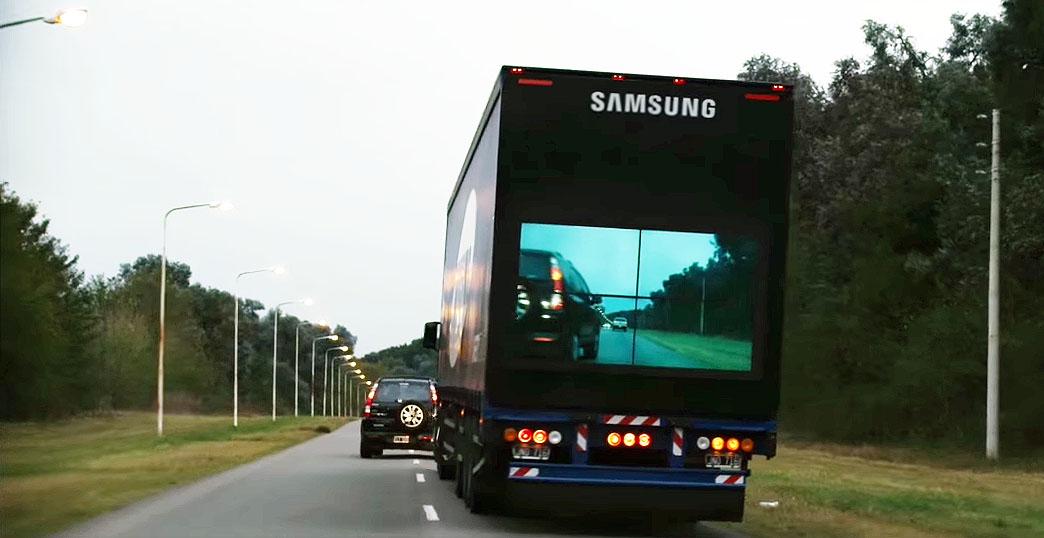 #Sicherheit auf der Strasse: #SamsungSafetyTruck