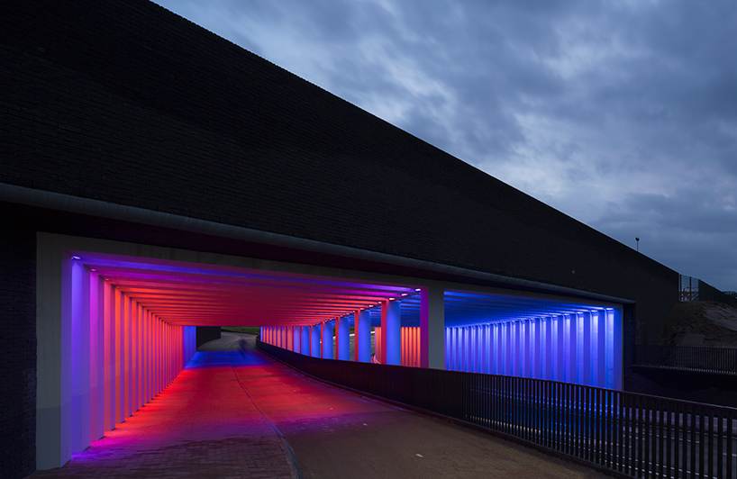 Herman Kuijer #Lichtinstallation im #Tunnel