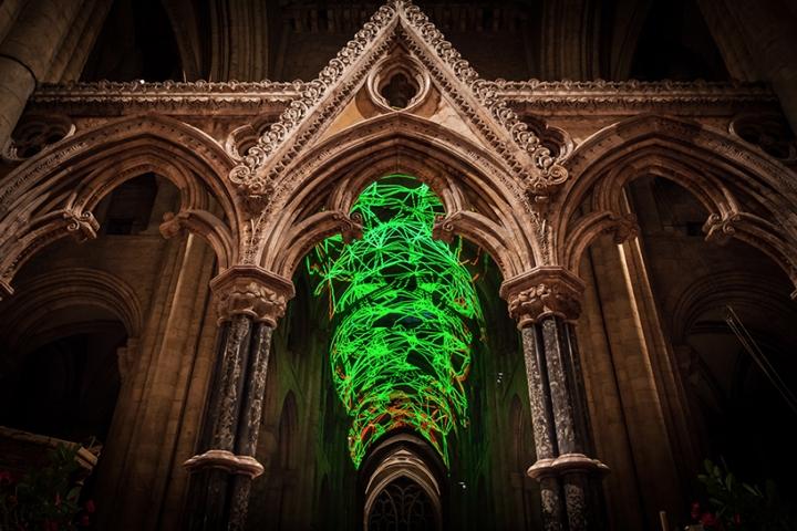 #Lichtshow in der #Kirche