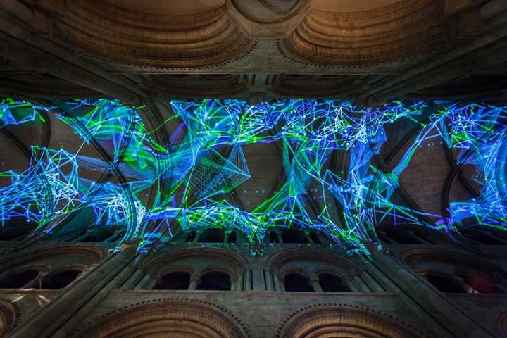 Complex-Meshes-Light-Insallation-by-Miguel-Chevalier-at-Lumiere-Durham-2015-Durham-UK