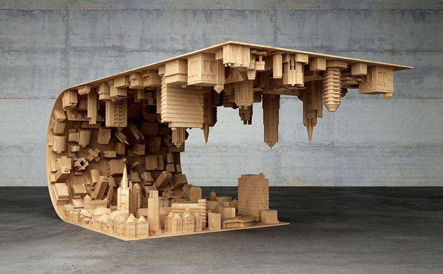 #Inception #Tisch aus #Holz