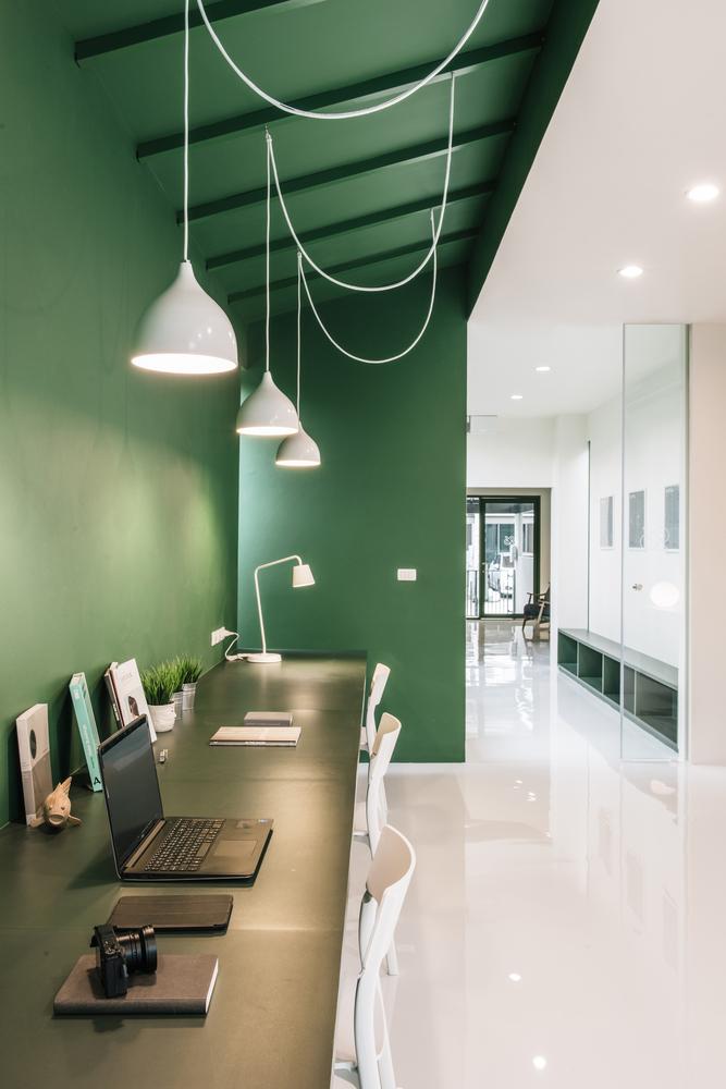 Grünes Büro in Bangkok
