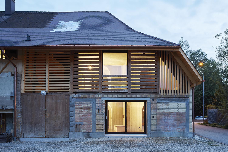 Freiluft Architektur an einem Bauernhaus