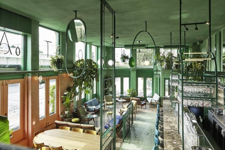 Eine botanische Bar in Amsterdam