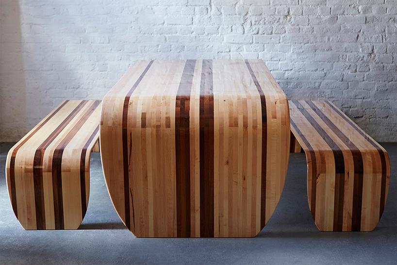 Tisch und Bank aus Surfboards