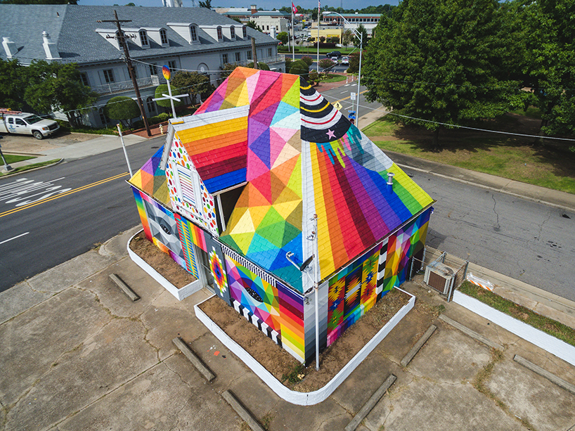 Farbige Häuser in Arkansas
