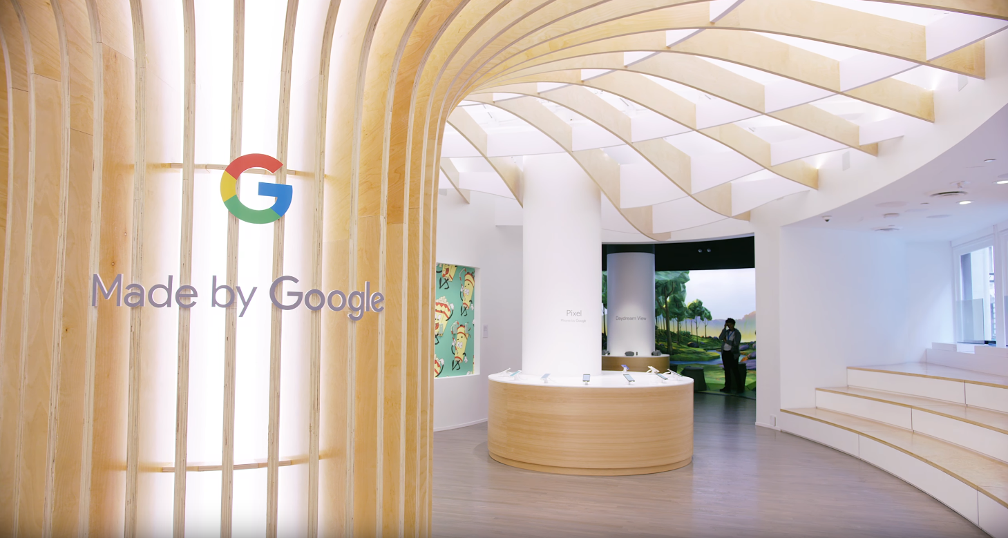 Google Popup Store in NY by @MKBHD
