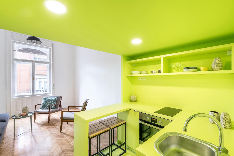 Farbige Wohnung in Budapest