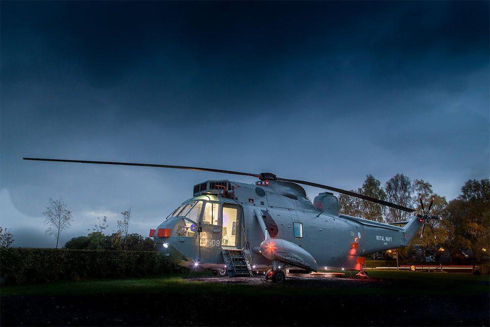 Royal Navy Helikopter als Zimmer